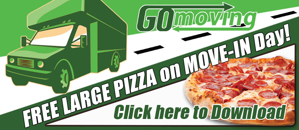 FREE Pizza on Move-In Day!